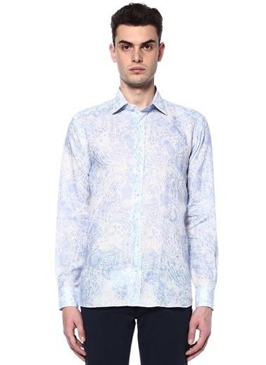 Etro Desenli Uzun Kollu Gömlek Mavi